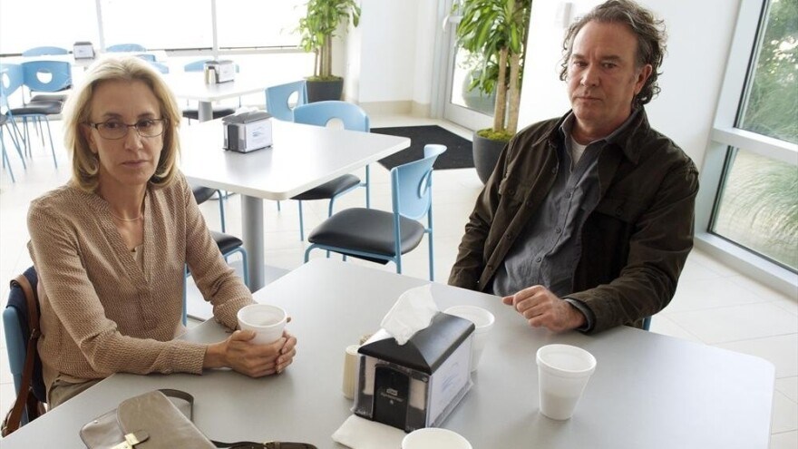 Felicity Huffman and Timothy Hutton play two estranged parents whose son is murdered during a home invasion in ABC's <em>American Crime</em>.
