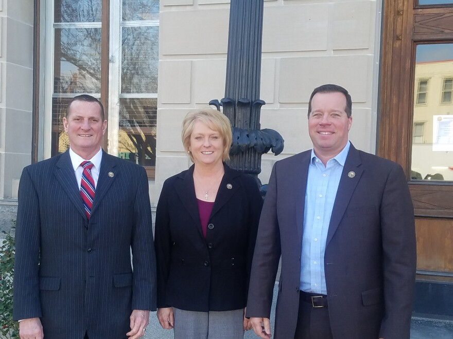 Preble County Commissioners Chris Day, Denise Robertson, and Rodney Creech