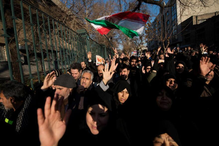 A funeral march in Iran
