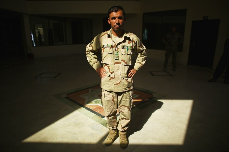As head of the police in Kandahar, Lt. Gen. Abdul Raziq was credited with bringing more security to the southern Afghan city. Raziq died in an attack Thursday; he's seen here in a photo from 2015.