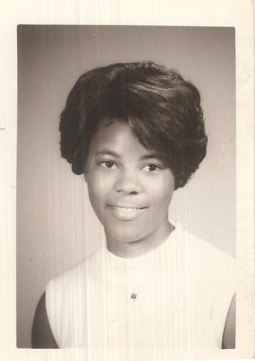 Judy Gladney's senior photo from University City High School in 1969.