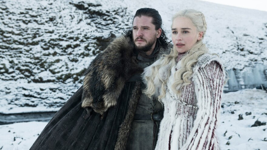 Will Jon Snow (Kit Harington) and Daenerys (Emilia Clarke) stay safe in the final season of <em>Game of Thrones</em>? Will their kicky winter camouflage help?