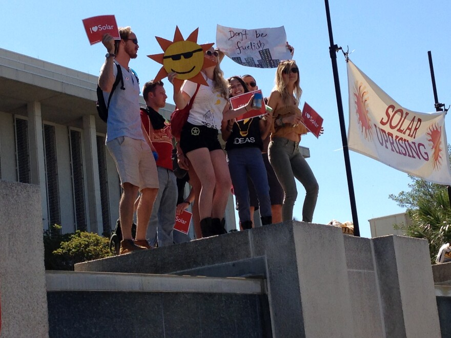 RALLY IN (AND FOR) THE SUN: Hundreds of students, activists and solar energy entrepreneurs crowded the capitol grounds for Solar Uprising.