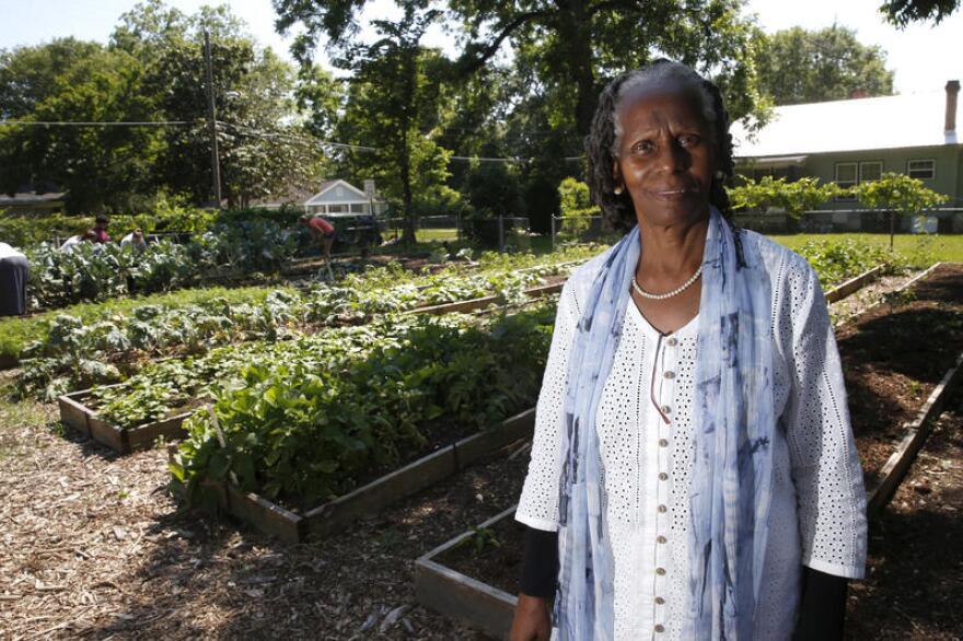 Miaisha Mitchell at the iGrow urban garden