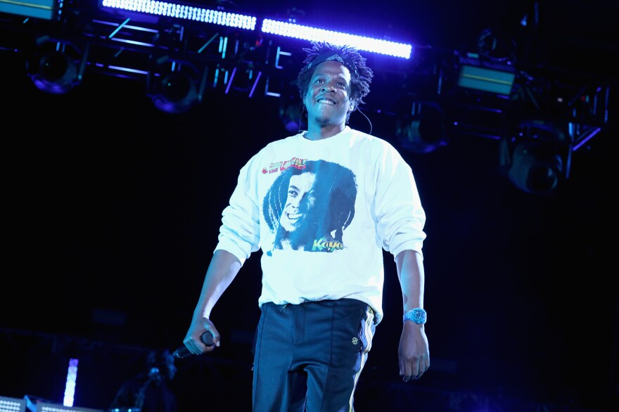 Jay-Z performs onstage at Something in the Water, Day 2, on April 27, 2019 in Virginia Beach City. (Brian Ach/Getty Images for Something in the Water)