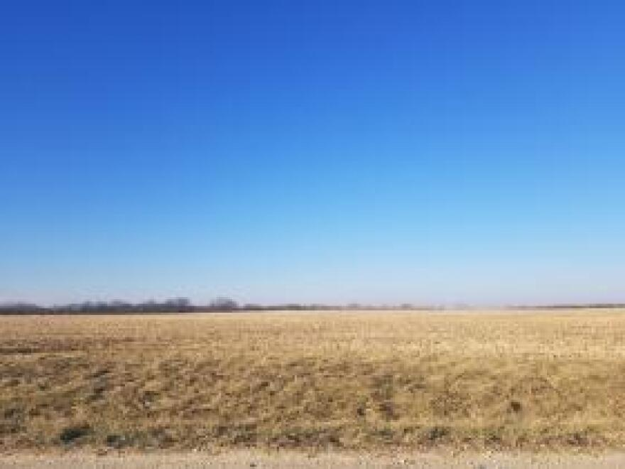 A winter field in Knox County, Illinois.
