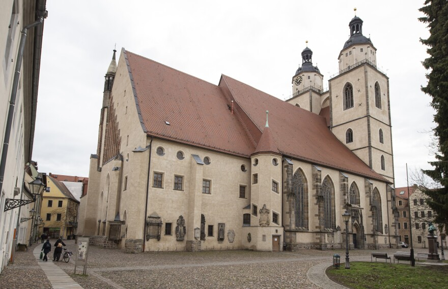 The <em>Stadtkirche</em>, or town church, of Wittenberg, in eastern Germany, is on UNESCO's World Heritage List. Martin Luther preached at the church and referred to the anti-Semitic sculpture in his writings.