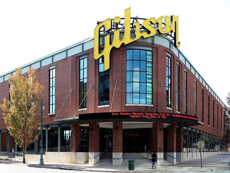 The Gibson Guitar factory in Memphis, Tenn., in 2016.