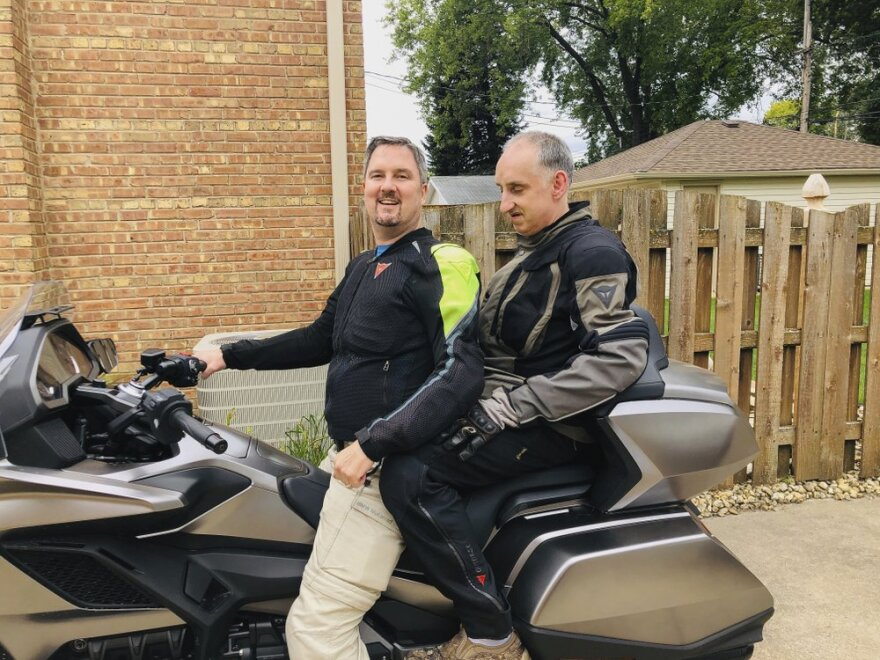 This 2019 photo provided by the family shows Joe Sullivan, right, of the Chicago-area, with his brother, Neil. When COVID-19 began spreading across the country, Neil prayed it wouldn't hit Elisabeth Ludeman Developmental Center - where 346 people live in