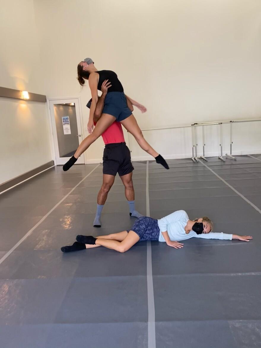 Dance Now, This moment Here  rehearsal,L to R Josua Rosado, Julia Faris & Isabelle Luu Li Haas, photographer Allyn GInns Ayers.jpeg