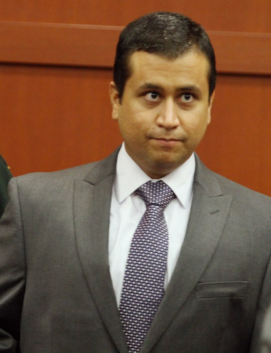George Zimmerman, who is charged with second-degree murder in the death of Trayvon Martin, at a court hearing last June in Seminole County, Fla.