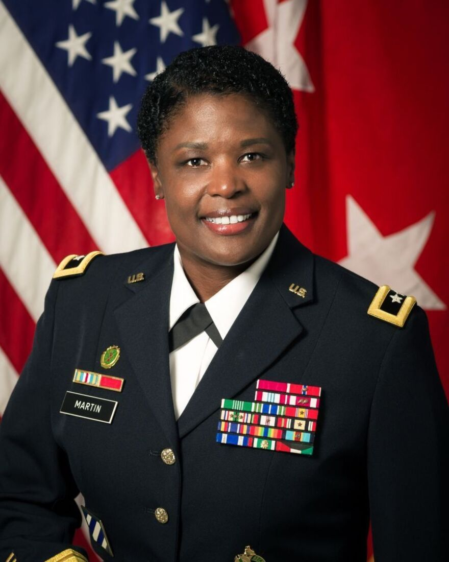Maj. Gen. Donna Martin is the first woman and third African American to lead Missouri's Fort Leonard Wood.