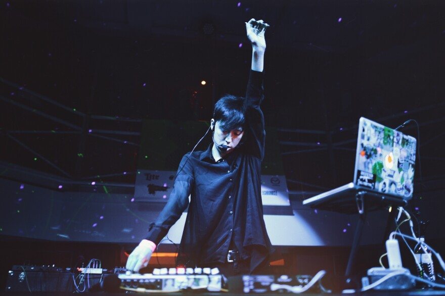 The electronic artist Meishi Smile performs at Highland.