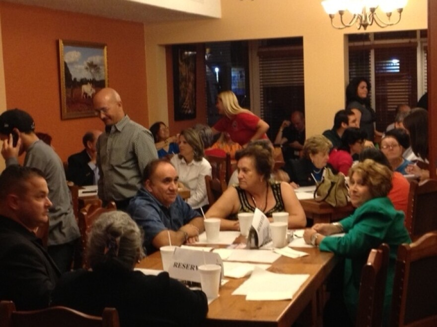 Diners at Casa Marin restaurant gather on Florida's primary night.