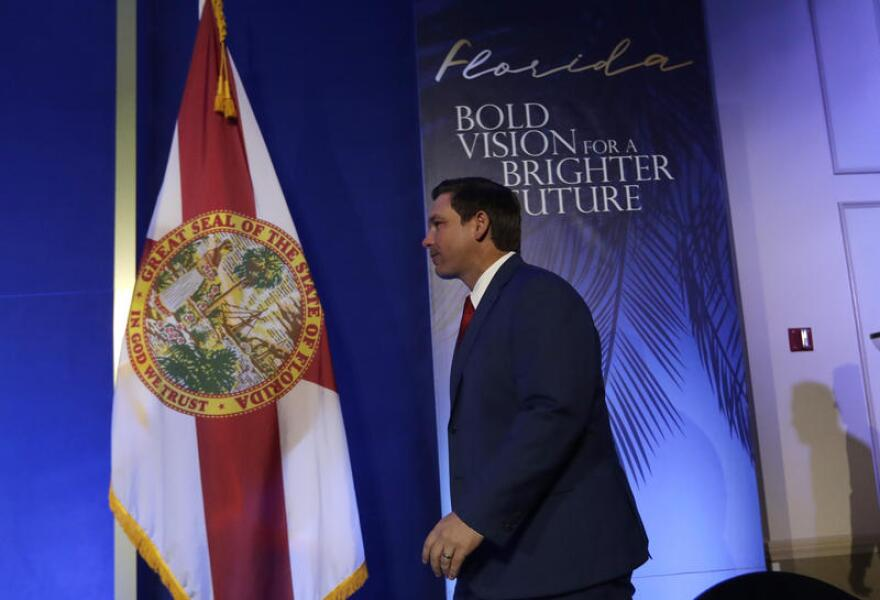 Florida Governor Ron DeSantis, in Tallahassee, Fla.