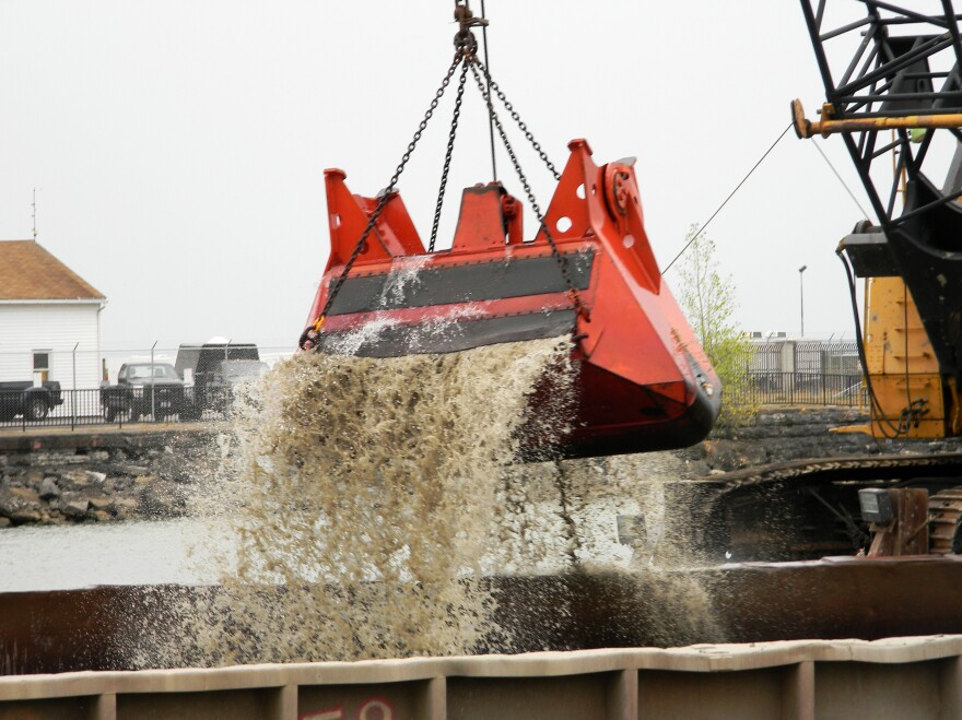 Over the next three years, a clamshell will scrape the bottom of Buffalo's waterfront harbor, scooping out contaminants from the city's industrial days.