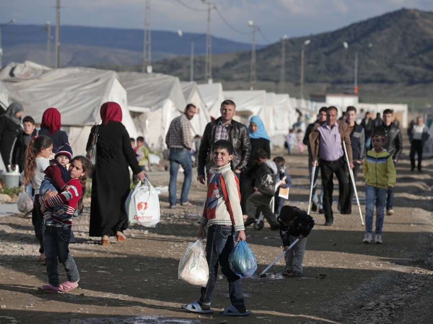 Aid via debit card has already reached Syrian refugees living in Turkish camps like the one at Islahiye, shown here in March 2016. The new program will reach refugees living outside camps.