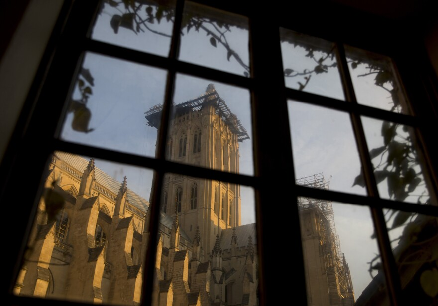 After the Washington National Cathedral was damaged in an earthquake seven years ago, master stone masons are still working to repair the intricate Gothic stonework on its iconic towers.