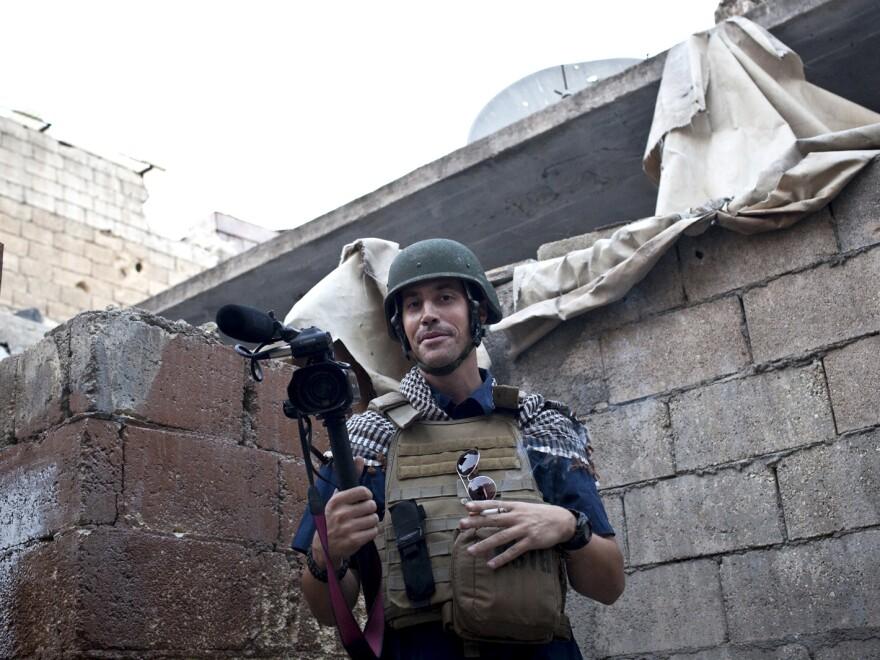 James Foley in a photo taken in Aleppo, Syria, in November, 2012.