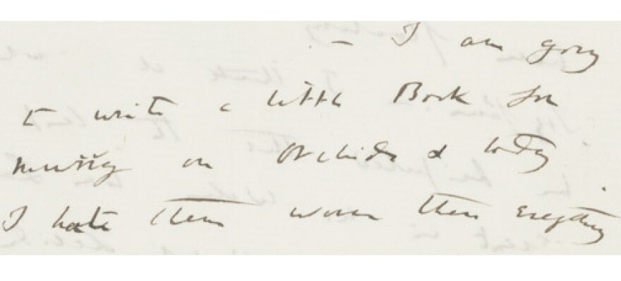 """Darwin: """"I am going to write a little Book for Murray on orchids..."""""""