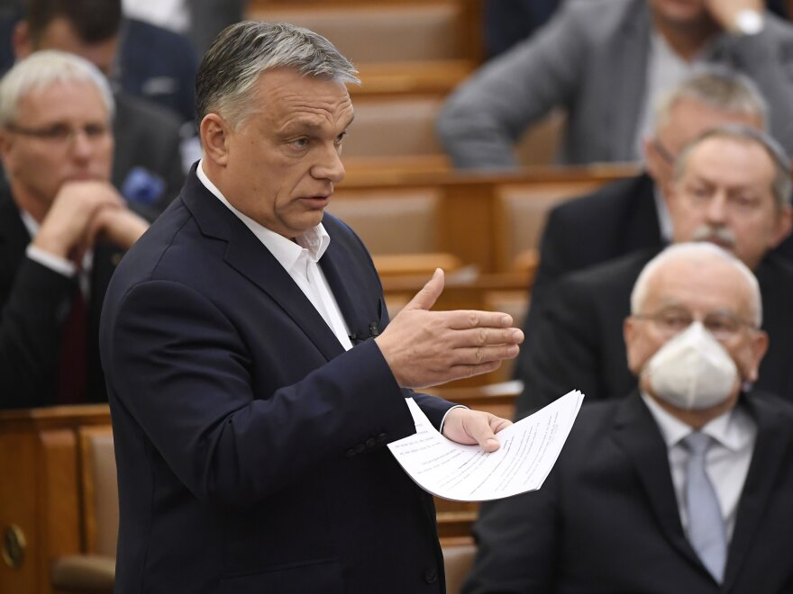 Hungarian Prime Minister Viktor Orban last month, when lawmakers granted him the power to rule indefinitely by decree. One aspect of the law, ostensibly passed to cope with the coronavirus, calls for prison terms for those convicted of spreading falsehoods or distorted facts during the emergency.