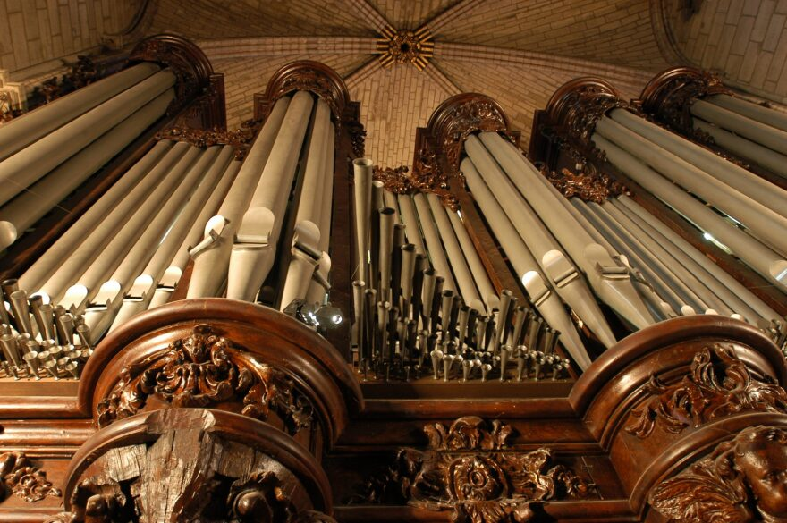 The organ of Notre Dame Cathedral in Paris, one of the most famous in the World. (Stephane de Sakutin/AFP/Getty Images)