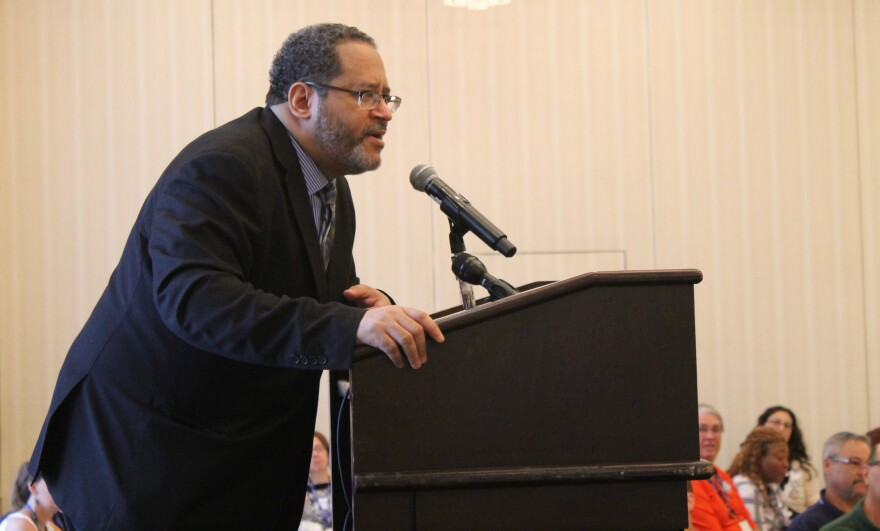 Michael Eric Dyson was the keynote speaker for the Missouri delegation's Monday breakfast.
