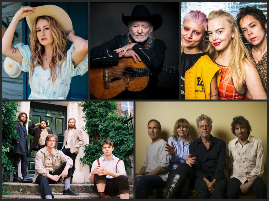 Clockwise from top left, Margo Price, Dream Wife, The Jayhawks, Fontaines DC