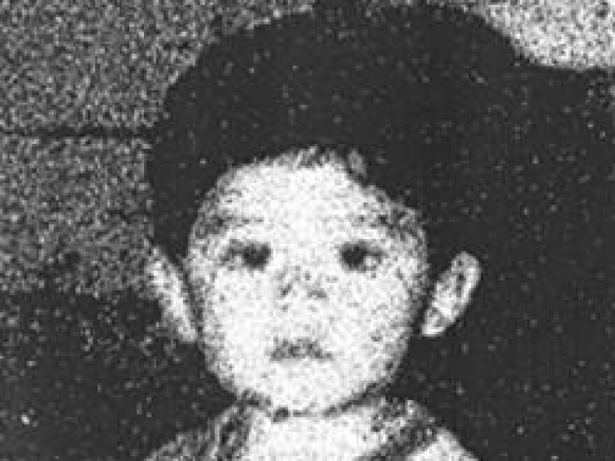This undated photo released by the San Bernardino County District Attorney's Office shows a family photo of Steve Hernandez — the only photograph Maria Mancia had of her kidnapped son for the past 20 years.