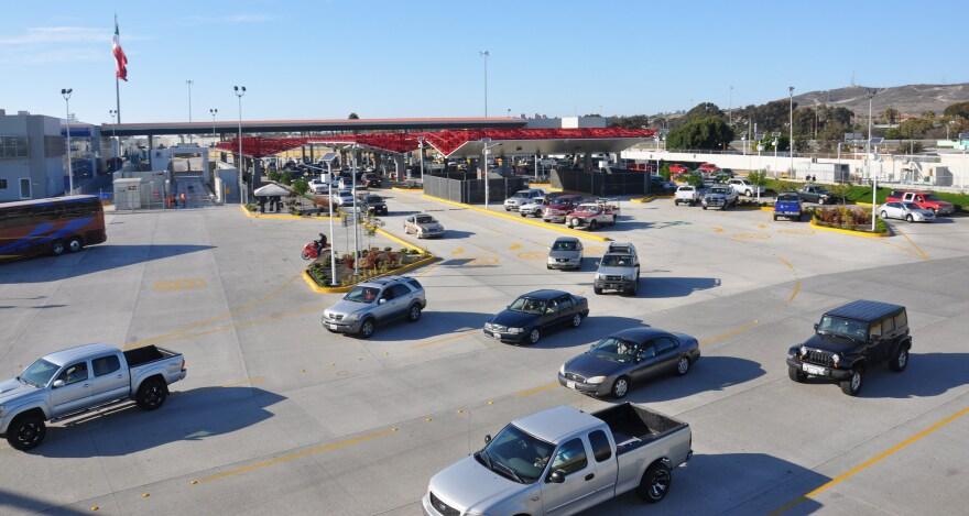 A U.S.-Mexico border crossing.