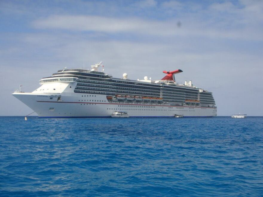 A cruise ship on water, Carnival Legend.jpg