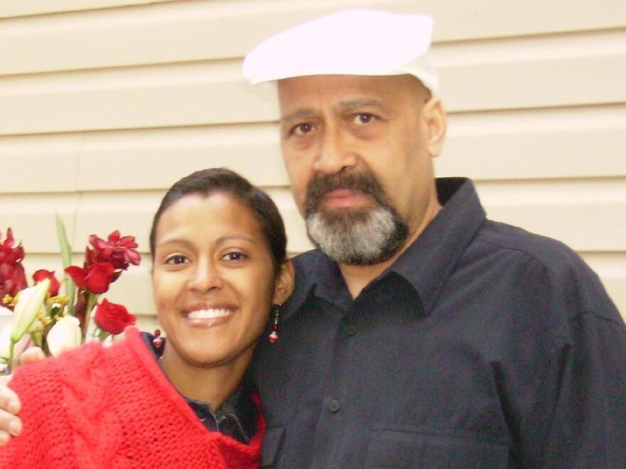 Vanessa Silva-Welch with her father, Arnaldo Silva, photographed in 2009, after they both finished their chemotherapy treatments.