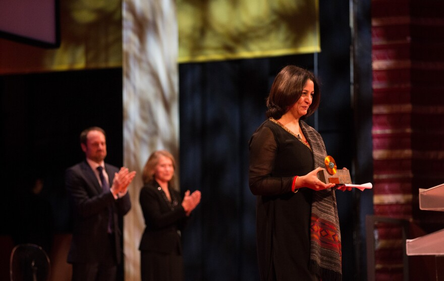 """Safeena Husain says: """"I educate girls."""" Her efforts have brought 80,000 Indian girls into school; last week she received a Skoll Award for Social Entrepreneurship (above)."""