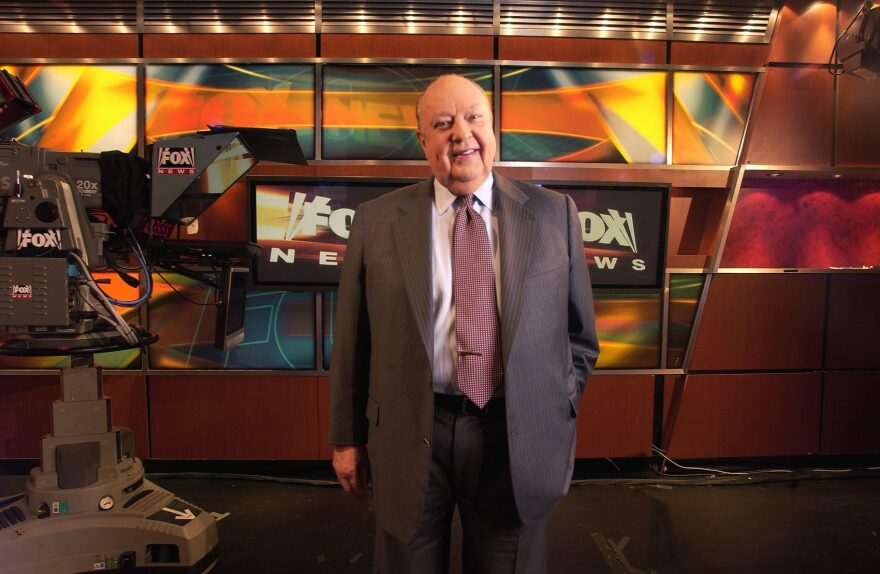In a Sept. 29, 2006 file photo, Fox News CEO Roger Ailes poses at Fox News in New York. (Jim Cooper/AP)