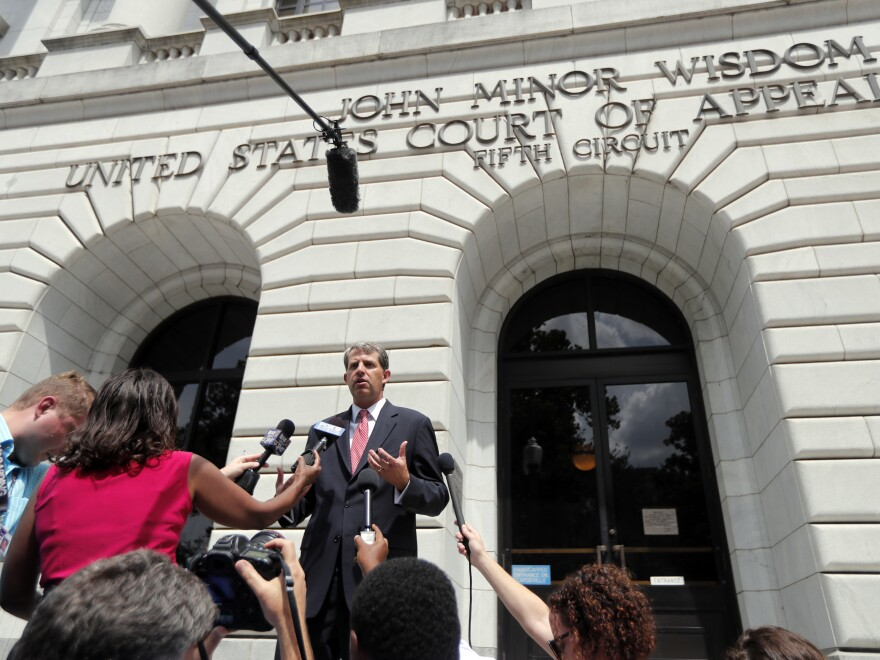 The latest challenge to the Affordable Care Act, <em>Texas v. Azar</em>, was argued in July in the 5th Circuit Court of Appeals. Attorney Robert Henneke, representing the plaintiffs, spoke outside the courthouse on July 9.