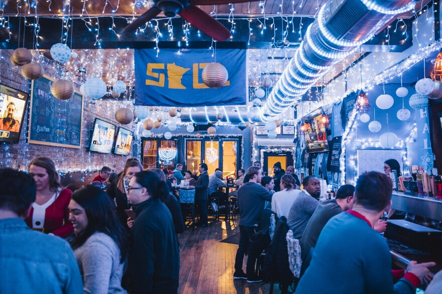 The Graystone Tavern, in Chicago's Wrigleyville, opened the city's first and only Hanukkah-themed pop-up bar. There are plenty of Christmas-themed pop-ups every year, and the owners wanted to do something a little different.