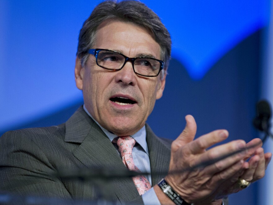Former Texas Gov. Rick Perry speaks at an event in Washington in Sept. 2015.