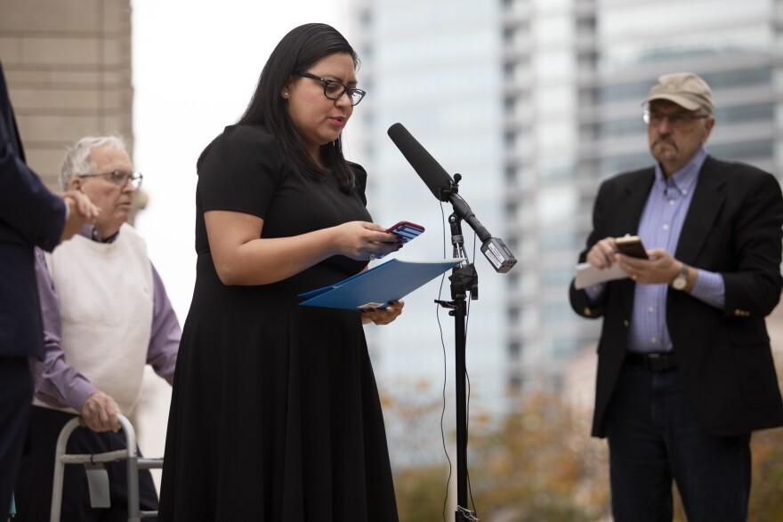 Mayra Mendoza, executive vice president for the Texas Young Democrats