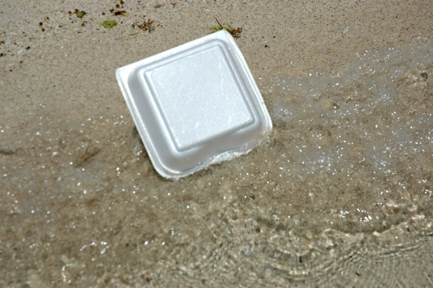 No polystyrene will be allowed in county parks or beaches starting July, 1.