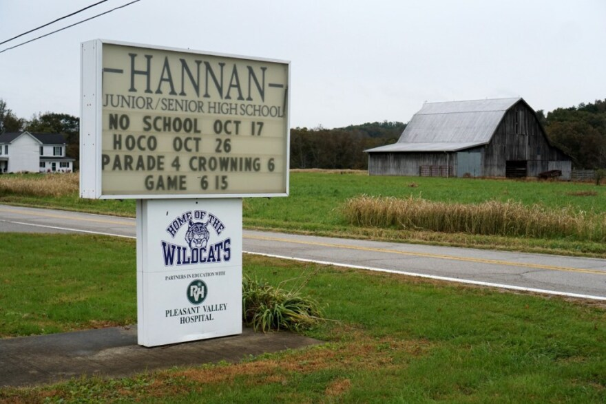Hannan High School, located in Mason County's farm country, is a small 7-12 school with only 300 students.