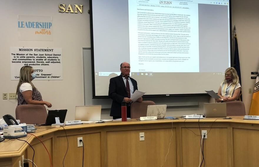 San Juan County school board meeting.