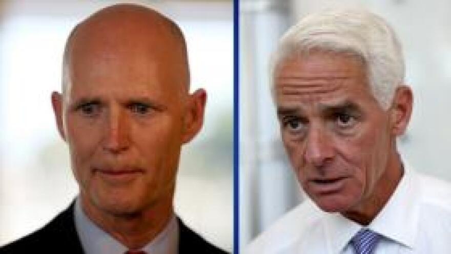 A poll released by Quinnipiac University the day before Election Day gives Charlie Crist a one-point advantage over Rick Scott. Pollsters say that makes the race too close to call.