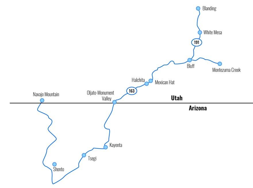 A map of the google fiber line.