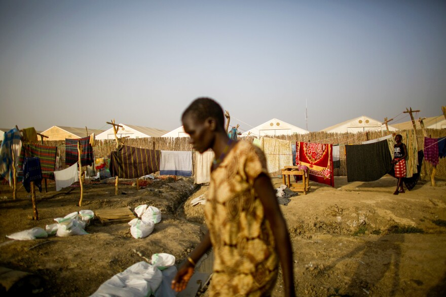 A scene from Bentiu, the largest refugee camp in South Sudan.