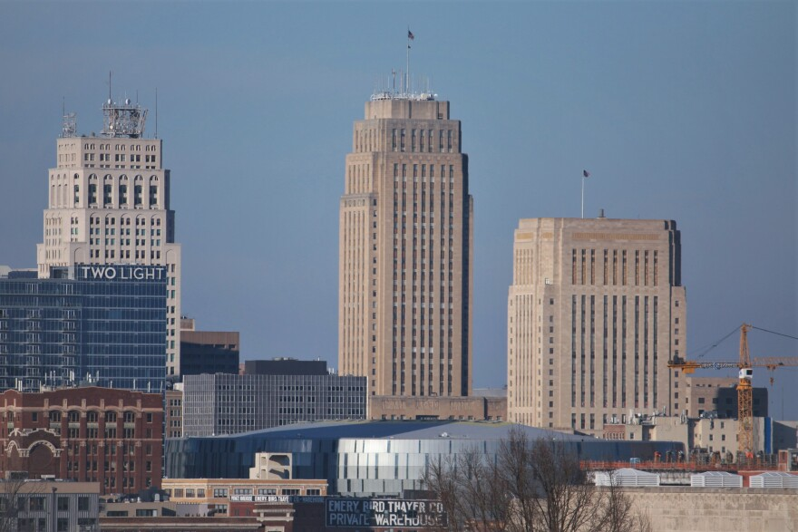 Kansas City, Missouri, City Hall as seen from Penn Valley Park