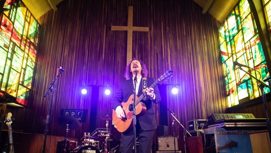 John Paul White performs at the Tiny Desk Family Hour at Central Presbyterian Church in Austin, TX during the 2019 SXSW music festival.