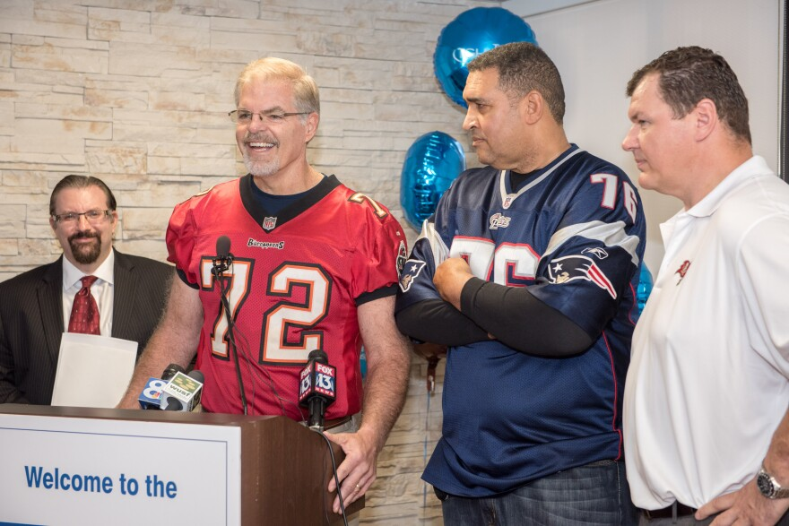 Rob Taylor (left) after losing 93 pounds as part of the HOPE Program