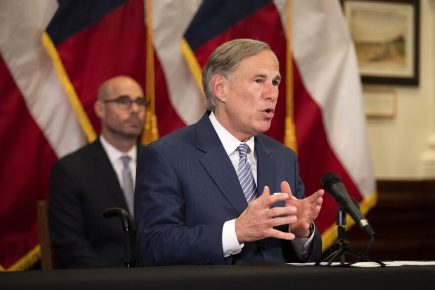 Gov. Greg Abbott announced a strike force in charge of laying steps to reopen the Texas economy at a press conference in the capitol on April 17.