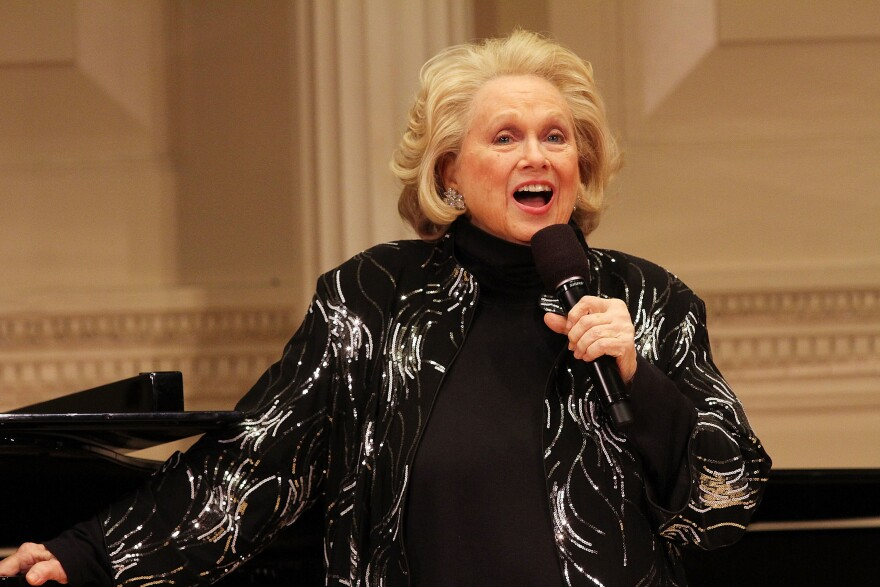 """Barbara Cook attends """"Remembering Lenny: A Gala Celebration Of Leonard Bernstein"""" at Carnegie Hall on April 28, 2014 in New York City."""
