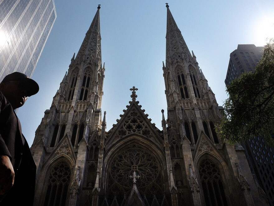 """St. Patrick's Cathedral is the seat of the Roman Catholic Archdiocese of New York, which has released a list of 120 clergy members """"credibly accused"""" of child sexual abuse."""